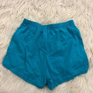 Pants - Teal blue cotton running cheer athletic shorts